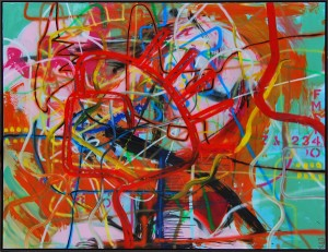 2m x 1.5m Abstract Acrylic on Canvas with 'Float Frame'
