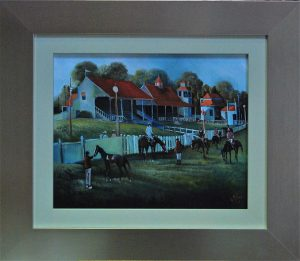 Oil on Board re-framed in a contemporary style