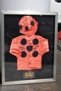 Black Caviar Framed Jockey Colours
