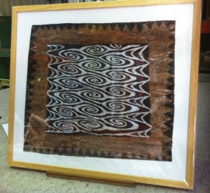 Indigenous Bark Painting - Framed to Museum Standard under glass