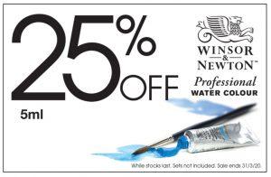 Winsor & Newton 25% Off